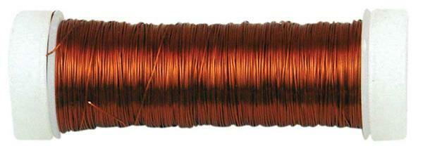 Haakdraad metallic - Ø 0,30 mm, bruin