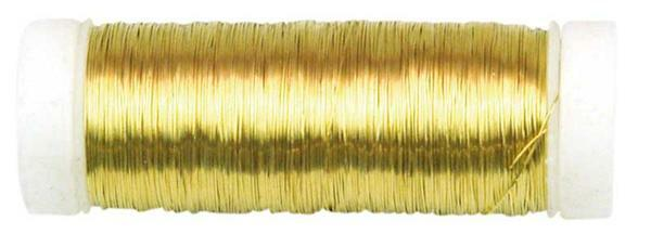 Haakdraad metallic - Ø 0,25 mm, goud