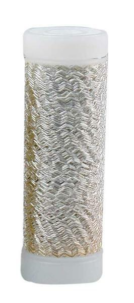 Bouillon effectdraad - 25 g/spoel, zilver