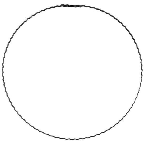 Draadvormen gegolfd - ring, 20 cm