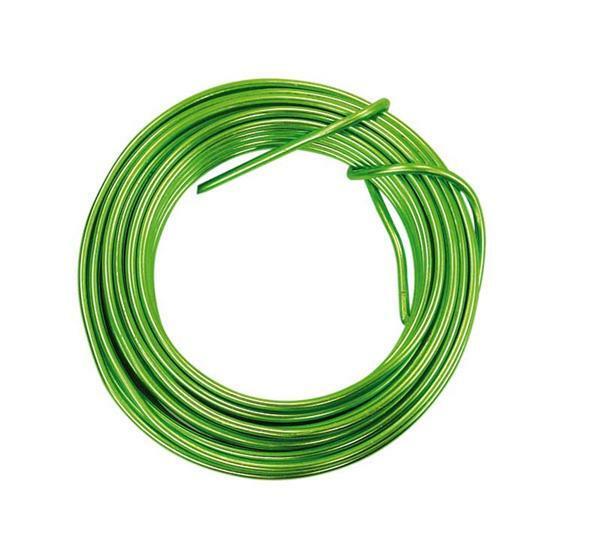 Aludrahtring ca. 5 m - Ø 2 mm, grün