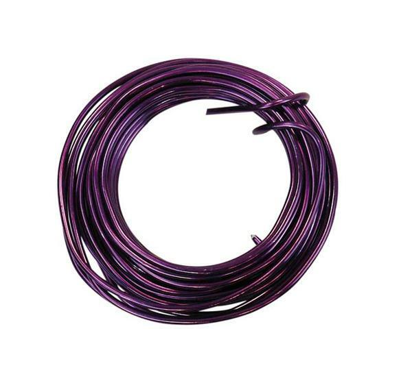 Aludrahtring ca. 5 m - Ø 2 mm, violett
