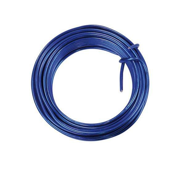 Aluminiumdraadring ca. 5 m - Ø 2 mm, blauw