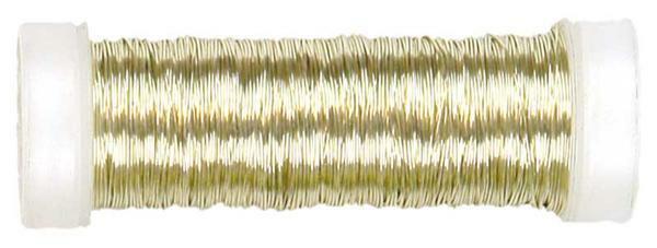 Fil à crochet métallisé - Ø 0,30 mm, champagne
