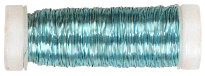 Haakdraad metallic - Ø 0,30 mm, hemelsblauw