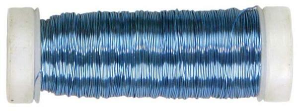 Häkeldraht metallic - Ø 0,30 mm, eisblau