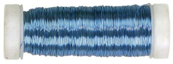Fil à crochet métallisé - Ø 0,30 mm, bleu glacier