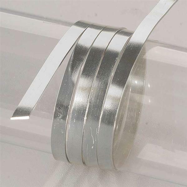 Aluminiumdraad plat - 2 m, 5 mm, zilver