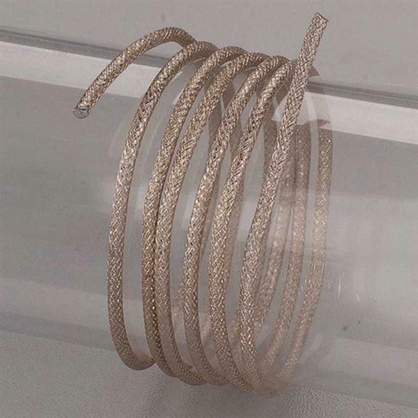 Aluminiumdraad met reliëf - 2 m , Ø 2 mm, zilver