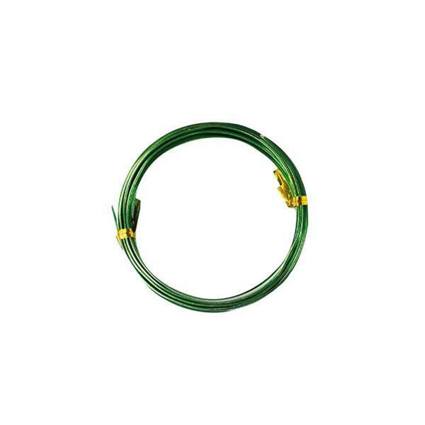 Aludraht flach - 2 m, 5 mm, apfelgrün