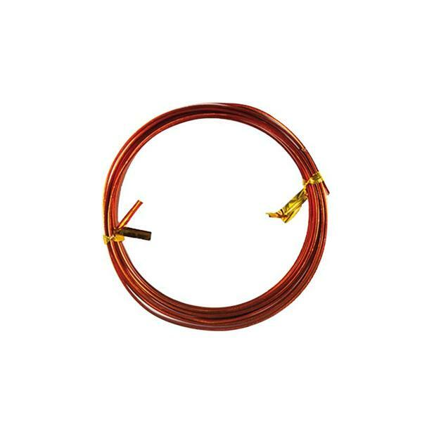 Aludraht flach - 2 m, 5 mm, orange