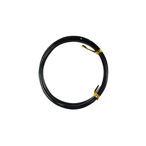 Fil alu plat - 2 m, 5 mm, noir
