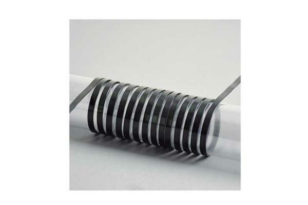 Aludraht flach - 2 m, 5 mm, schwarz