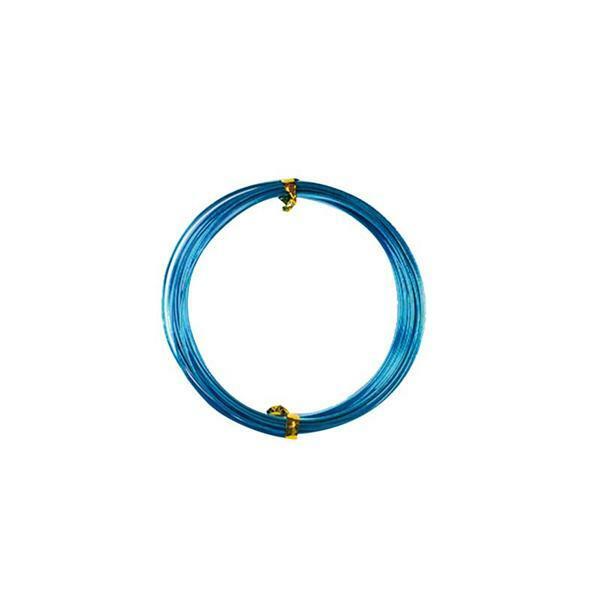 Fil alu plat - 2 m, 5 mm, turquoise