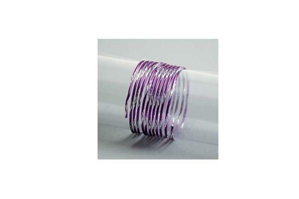 Fil aluminium bicolor - 2 m, Ø 2 mm, lilas