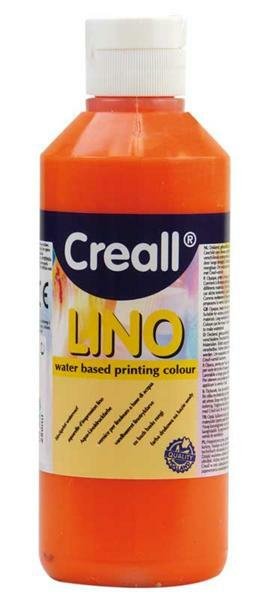 Creall®-lino drukverf - 250 ml, oranje