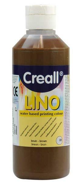 Creall®-lino Druckfarbe - 250 ml, braun