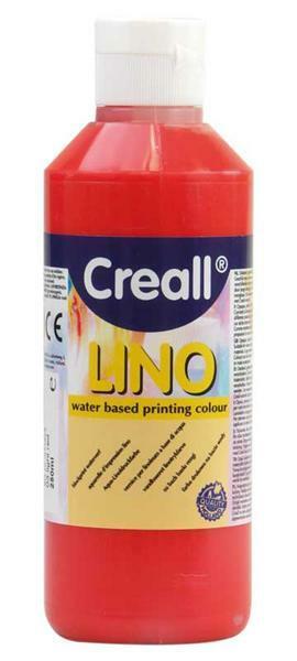 Creall®-lino drukverf - 250 ml, rood