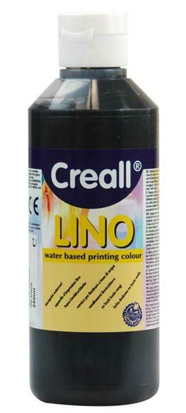 Creall®-lino Druckfarbe - 250 ml, schwarz