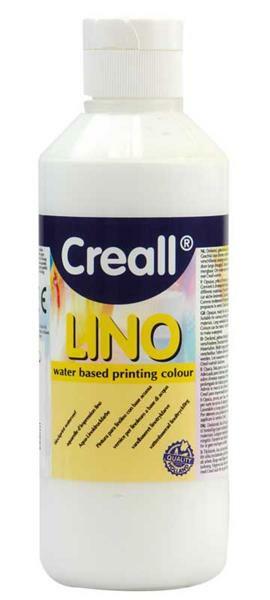 Creall®-lino drukverf - 250 ml, wit