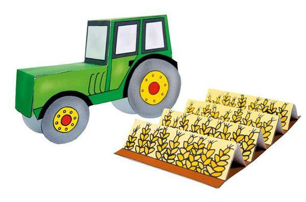 Buch - Das Ausschneide-Bastelbuch, Bauernhof
