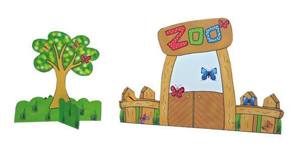 Buch - Das Ausschneide-Bastelbuch, Zoo