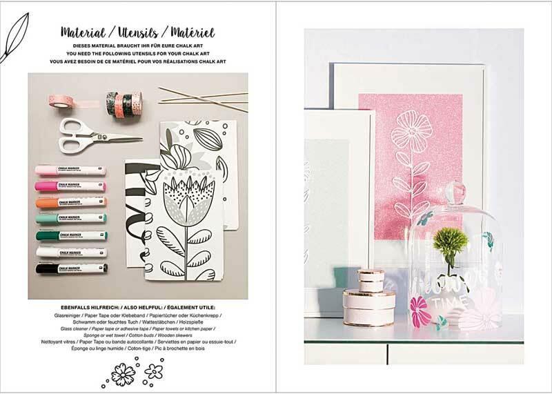 Boek - Vorlagenmappe Kreidemarker, Blumen/Pflanzen