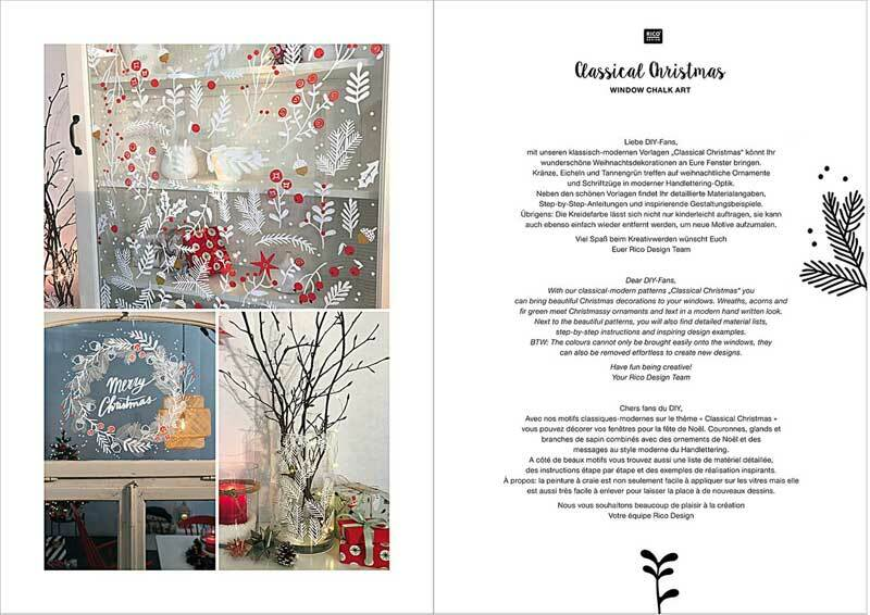 Boek - Vorlagenmappe Kreidemarker, Weihnachten