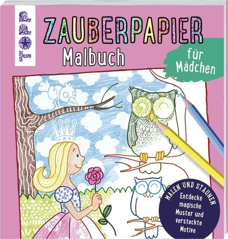 Buch - Zauberpapier Malbuch Mädchen