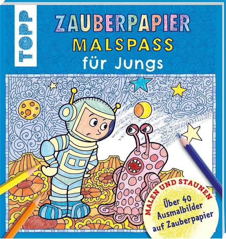 Boek - Zauberpapier Malbuch Jungs
