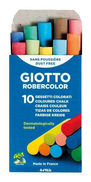 Giotto schoolbordkrijt - 10 st., gekleurd