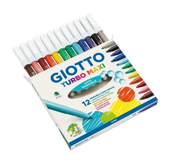 Giotto Turbo Color -  Maxi viltstiften, 12 st.
