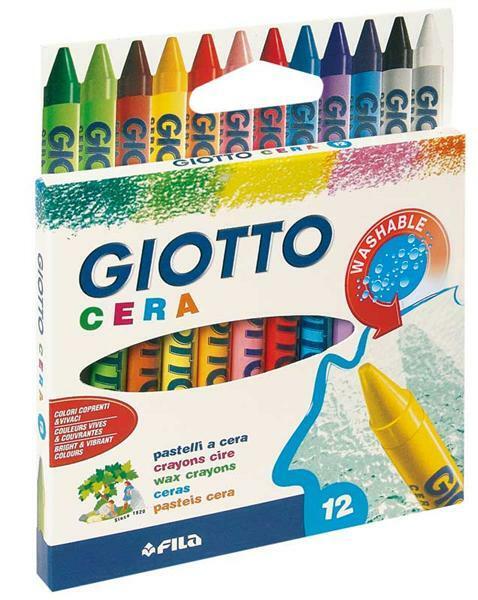 Giotto - Crayons cire Cera - 12 pces