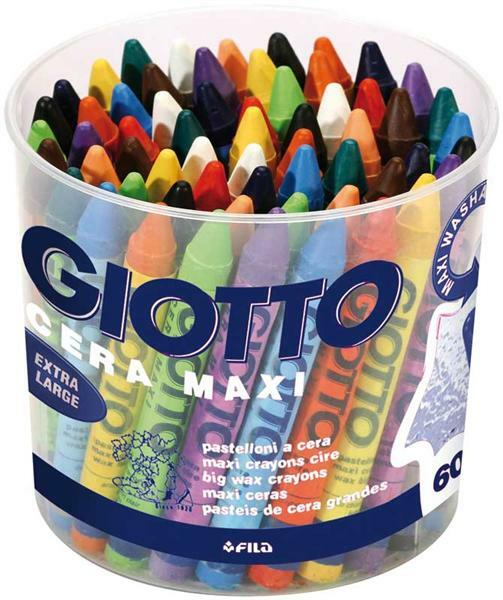 Giotto Cera Maxi crayons-cire - 60 pces