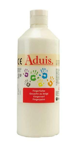 Aduis vingerverf - 500 ml, wit