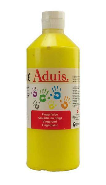 Aduis Gouache aux doigts - 500 ml, jaune
