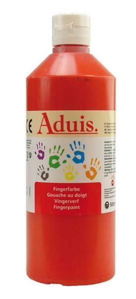 Aduis Gouache aux doigts - 500 ml, rouge