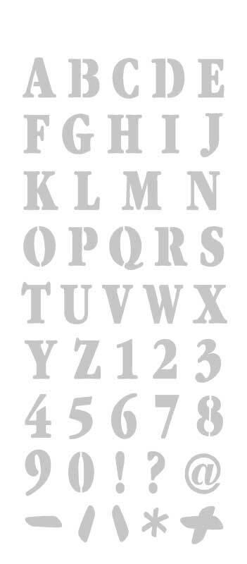 Sjabloon - 12,5 x 28,5 cm, ABC