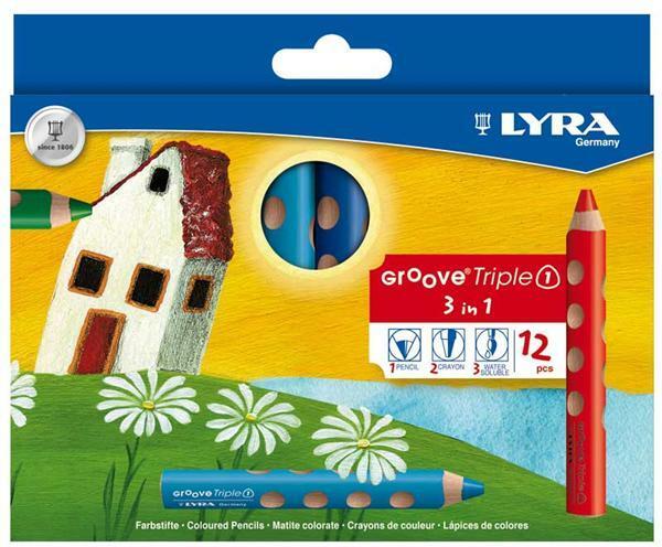Lyra Groove Triple 1® - kleurpotloden, 12 stuks
