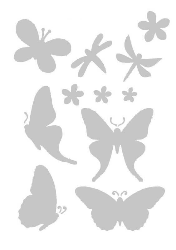Sjabloon - A5, vlinders en bloemen