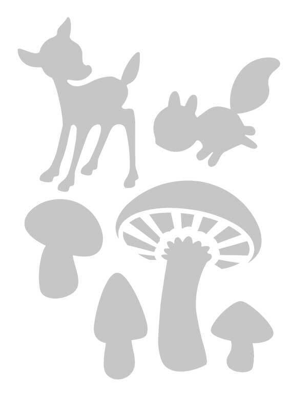 Sjabloon - A6, paddenstoelen