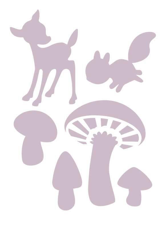 Sjabloon - A6, paddenstoelen