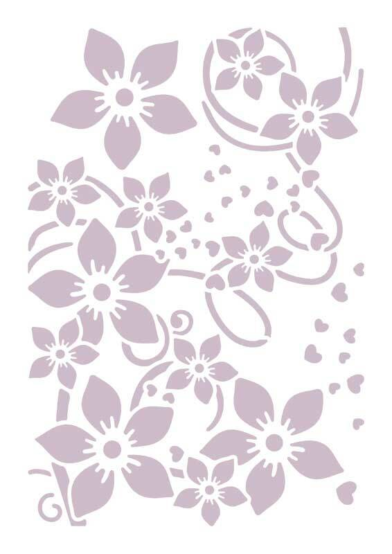Schablone - A4, Blumen