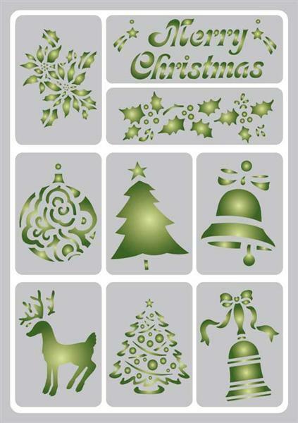 Sjabloon - A5, zelfklevend, kerst