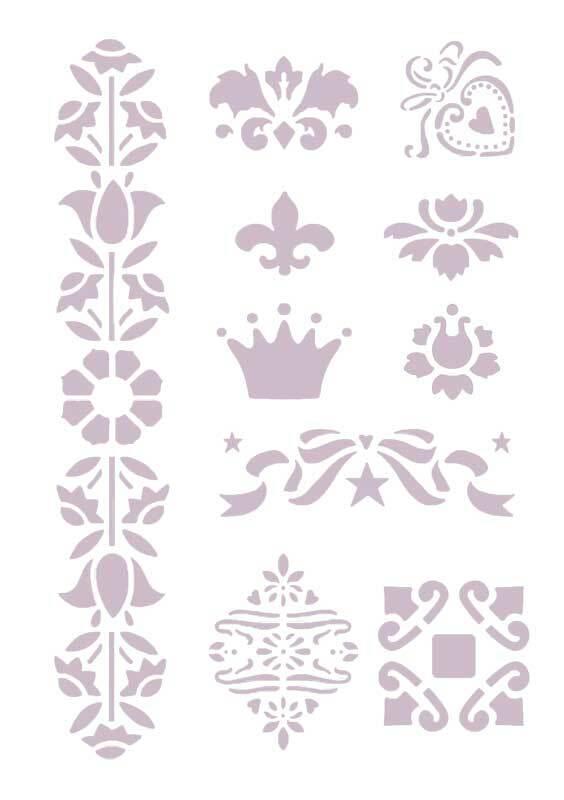 Sjabloon - A5, zelfklevend, ornamenten