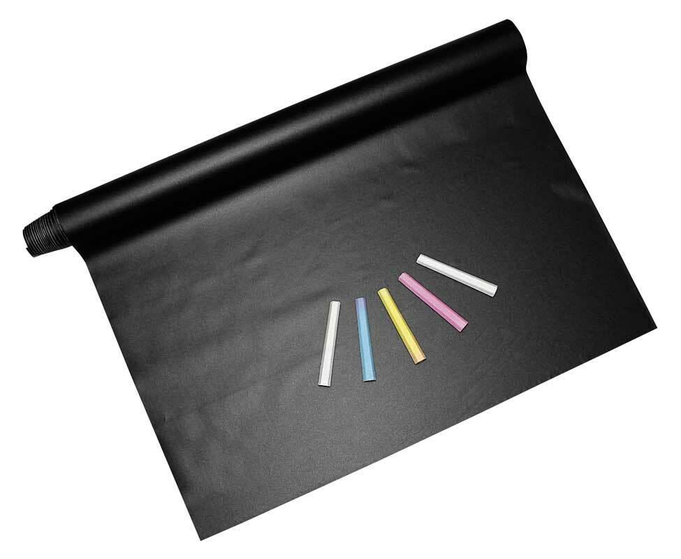 Tafelfolie mit Kreideset