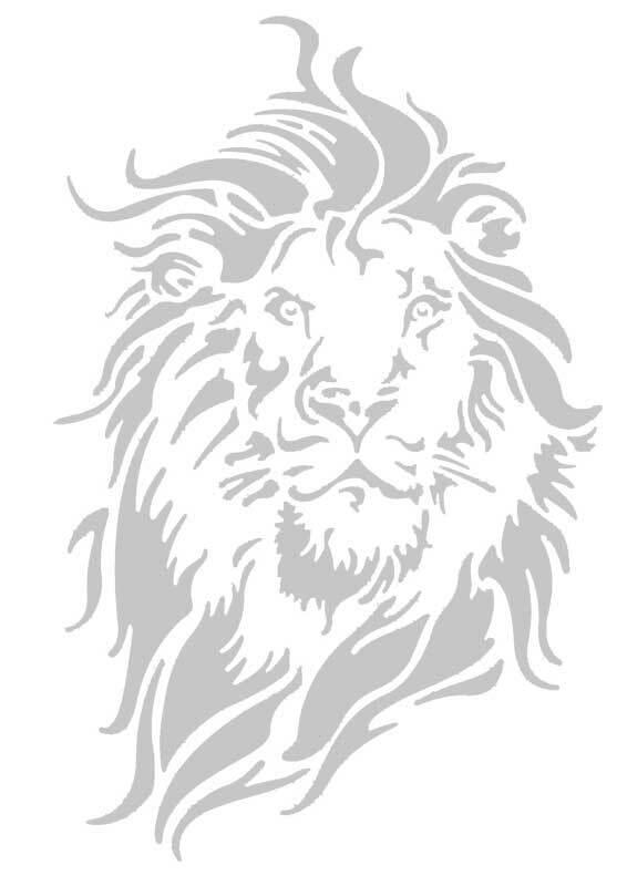 Sjabloon - A4, leeuw