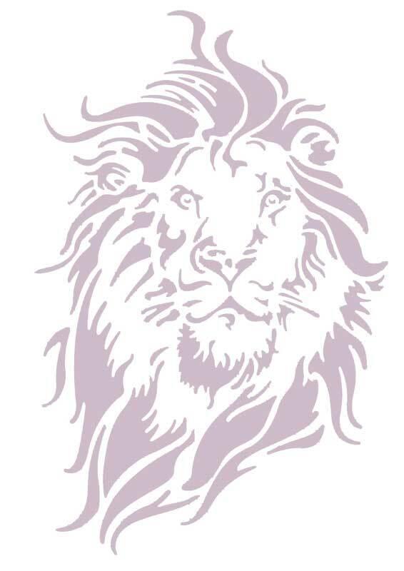 Pochoir - A4, Lions
