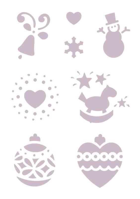 Schablone - A5, selbstklebend, Weihnachten 2