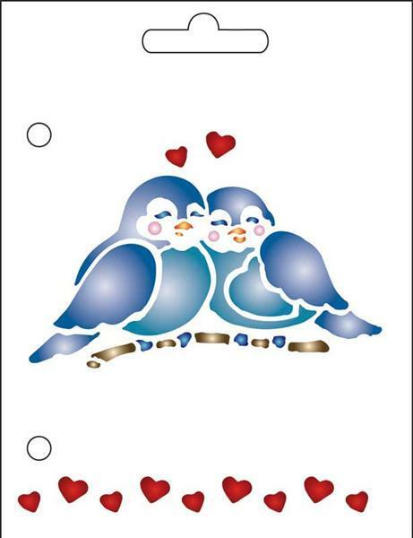 Schablone - A6, Vögel